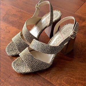Brand New Calf Hair Block Heel Shoes